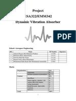 ESA322 Dynamic Vibration Absorber Project