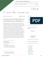Integrar Drivers SATA AHCI a La Instalación de Windows 7