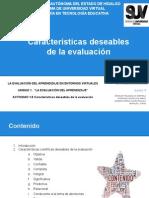 Características deseables de la evaluación