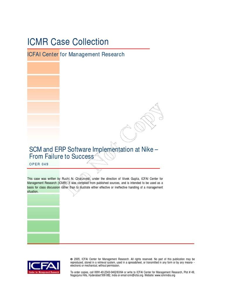 nike Case Study | Supply Chain Management | Enterprise Resource Planning