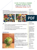 natural forms wk (1) task sheet