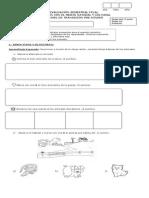 Evaluación Final Seres Vivos y Su Entorno Prekinder 2014