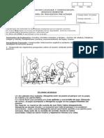 Evaluación Lenguaje y Comunicación 2 Semestre Pk 20124