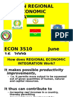 Africa 13 Regional Economic Integration Among African Countries
