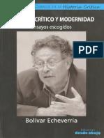 ECheverría Discurso Critico y Modernidad Ensayos Escogidos