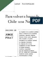 Para volver a hacer de Chile una nación discurso de Jorge Prat.