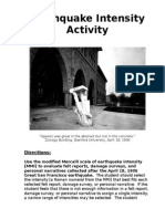 Earthquake Intensity Activity.doc