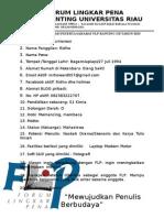 Formulir Pendaftaran FLP Ranting UR Dan UIN SUSQA Riau
