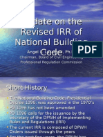 Revised IRR to National Building Code Injunction