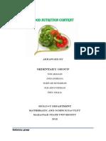 Food Nutrition Content PDF
