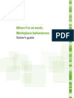 Workplace Behaviours Trainers Guide
