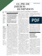 DELOISON, Yvette - El Pie de Los Primeros Homínidos (Mundo Científico 164, Gener 1996)