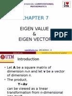 Mathematical analysis - Eigenvalues and eigenvectors
