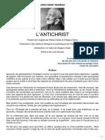 John-Henry Newman, L'Antichrist - Préface
