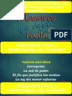 Horizonte Etico y Moral Del Profesional Hoy