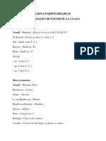 8. Lista Partiturilor