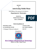 Remote control using Mobile Phone.doc