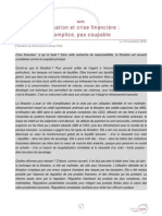 081118 - Titrisation Et Crise Financiere - Gilles de Margerie(60)(1)