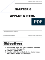 TCS2044 Chapter6 Applet & HTML Week11