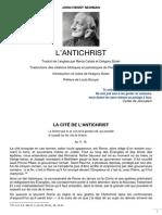 John Henry Newman, L'Antichrist, 1835 - 03 La Cité de l'Antichrist