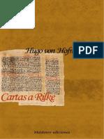 Von Hofmannsthal Hugo - Cartas A Rilke.PDF