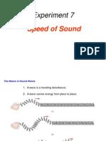 Expt. 7 Velocity of Sound