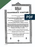 Biblia(Prima Traducere Completa in Lb Romana)