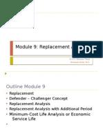 Module 9 Replacement Analysis