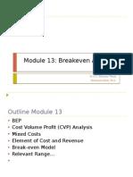 Module 13 Breakeven Analysis