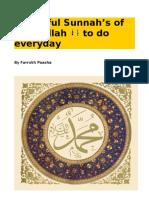 Beautiful Sunnah's of Rasulallah to Do Everyday