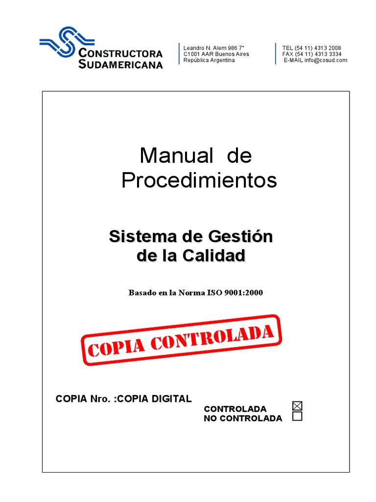 Manual de Procedimientos Gestion de Calidad