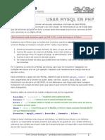 Dw03 Ctes Web - 09 - Conectar Php y Mysql