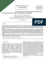 El Efecto de Variacion de La Temperatura en La Biometanizacion a Gran Altura
