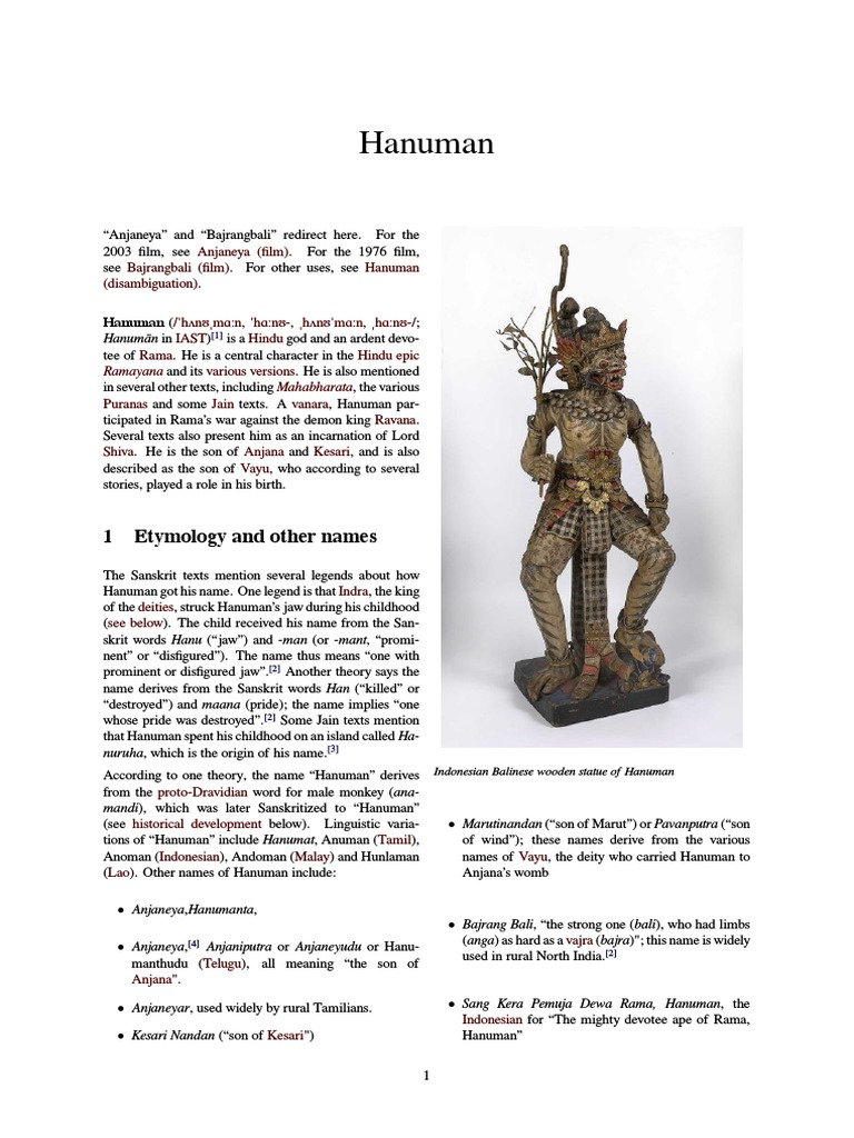 Hanuman - Introduction to one of the chief characters of