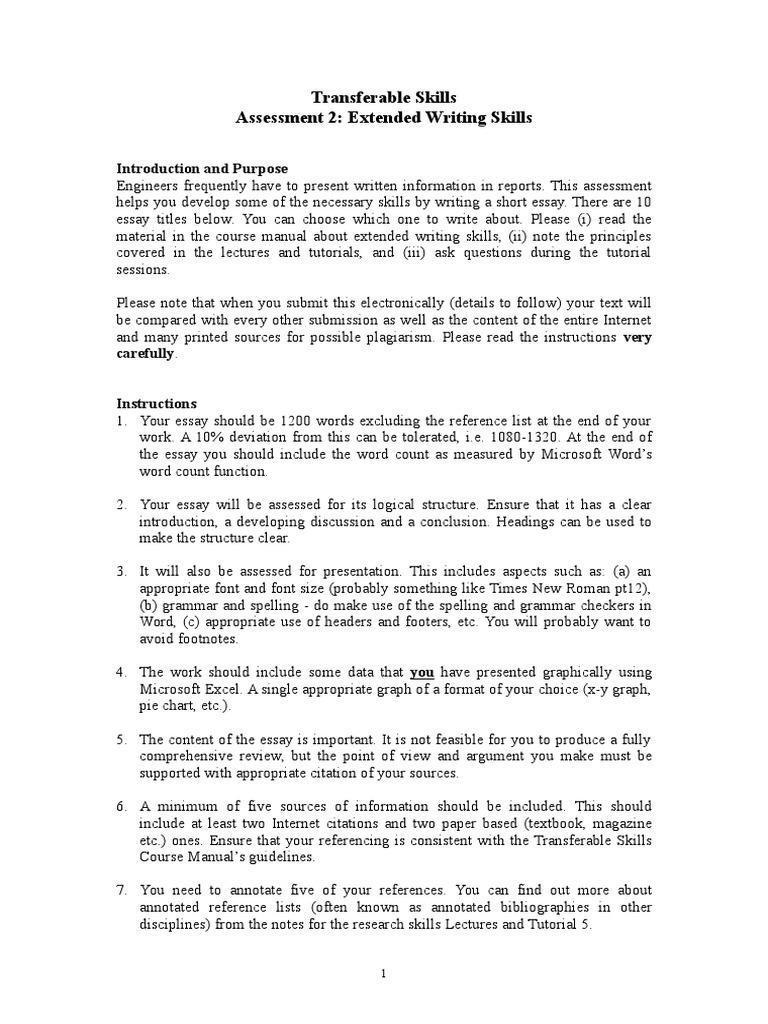 assessment transferable skills oct essays educational assessment 2 transferable skills oct 11 essays educational assessment