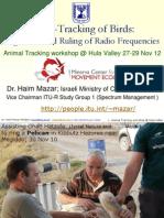 Hula Valley Mazar Presentation_Radio Tracking of Birds_Regulation and Ruling.pdf
