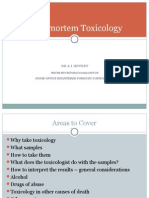 Post Mortem Toxicology
