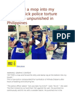 'He Forced a Mop Into My Mouth'Sick Police Torture Games Go Unpunished in Philippines