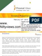Piramal Glass Analyst Ppt