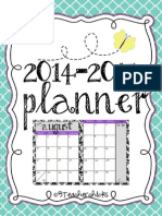 Free Year Long Planner