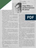 """Humberto Giannini """"Jorge Millas, o del difícil ejercicio de pensar"""""""