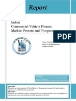 Indian Commercial Vehicle Finance 10th October 2013