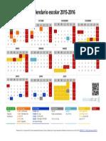 Calendario Escolar 2015-2016 (Apaisado)