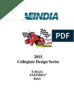 2015_eBaja SAE India RuleBook
