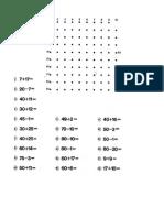 calcula y dibuja para niños de 1° y 2° de primaria