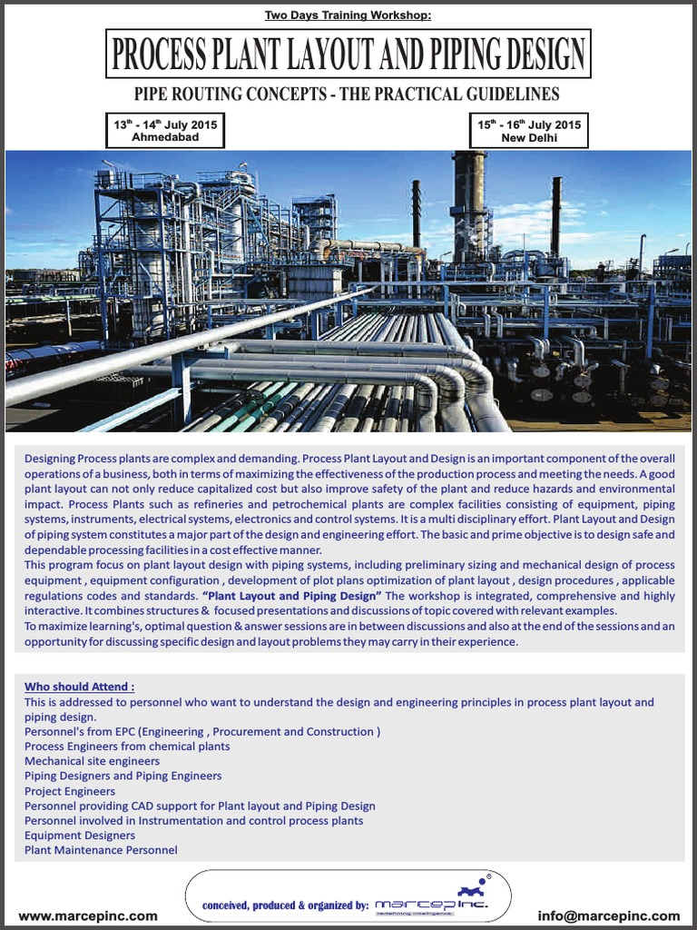 Process Plant Layout And Piping Design Engineering