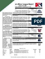 Minor League Report 15.06.14