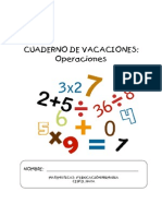 3º Cuaderno Cálculo Para Vacaciones