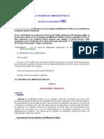 Ley Orgánica Del Ministerio Público Spij