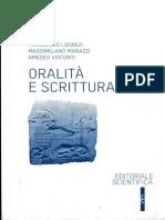 Fondamenti Del Diritto Antico 1/2012. Oralità  e Scrittura, F. LUCREZI-M. MARAZZI-A. VISCONTI edd.